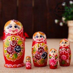 Матрёшка  «Катерина», красный сарафан , 5 кукольная, 10 см