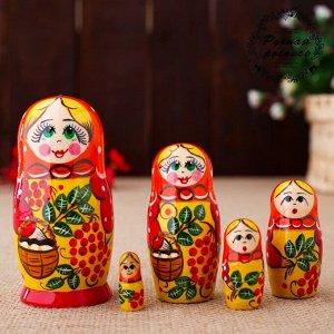 Матрёшка  «Катерина», рябина, 5 кукольная, 10 см