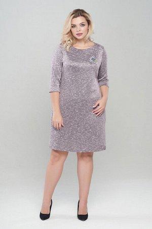 Платье Маленькое платье А-образного силуэта из мягкого уютного трикотажного полотна. Платье mini, с втачным рукавом и горловины лодочка. В боковых швах платья имеются карманы. Перед изделия украшают д