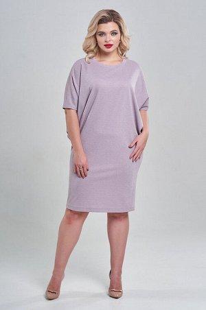 """Платье Мягкое, уютное и теплое платье из воздушного трикотажа. Платье свободного силуэта с оригинальным широким рукавом и длиной """"до колена"""". Горловина-лодочка."""