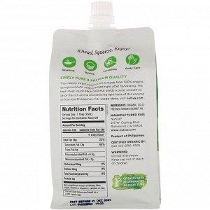 Nutiva, Органическое сжимаемое кокосовое масло, первого отжима, 355 мл