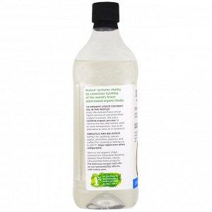 Nutiva, Органическое жидкое кокосовое масло, классическое, 32 жидкие унции (946 мл)
