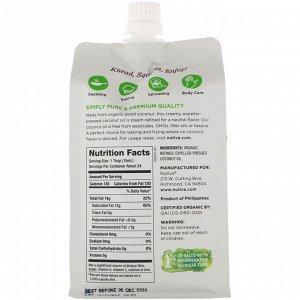 Nutiva, Органическое сжимаемое кокосовое масло, получено путем паровой дистилляции, 355 мл (12 жидк. унций)