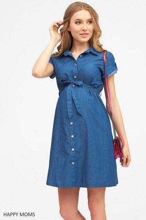 Платье для беременных и кормящих из тенсела