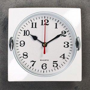 "Часы настенные. серия: Классика. ""Лаура"". хром. 15х15 см"
