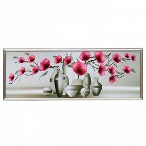 """Картина """"Цветы в вазах"""" 38х103 см"""