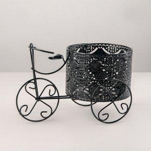 Подставка для цветов Доляна «Велосипед». d=13.3 см. 25?13.2?16 см. цвет чёрный