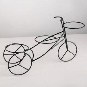 Подставка для цветов Доляна «Велосипед». d=8.3 см. 34.5?10?20.5 см. цвет чёрный