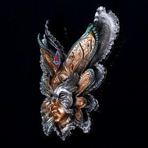 """Венецианская маска """"Бабочка"""" 25см МИКС"""