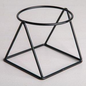 Подставка для цветов Доляна «Геометрика». d=8.3 см. 9.8?9.8?8 см цвет чёрный