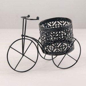 Подставка для цветов Доляна «Велосипед». d=7.5 см. 18?9?10 см. цвет чёрный