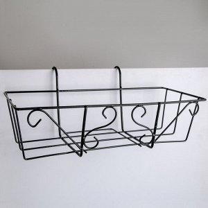 Подставка для цветов балконная Доляна «Ренессанс» 45,5?18?20 см