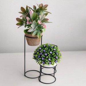 Подставка для цветов Доляна «Каскад». d=8.3см.. 18?17?22 см. цвет чёрный