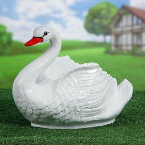 """Фигурное кашпо """"Лебедь"""" средний белый"""