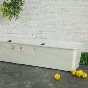 Балконный ящик, 80 см, цвет мраморный