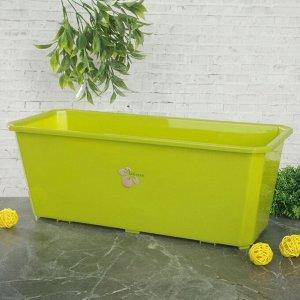 Ящик балконный 40 см, цвет салатовый