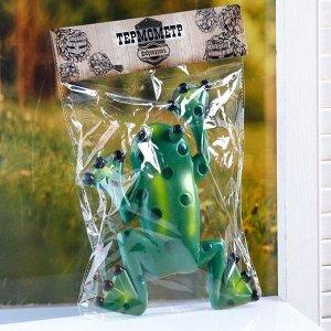 """Пластиковый термометр оконный """"Лягушка"""" в пакете"""