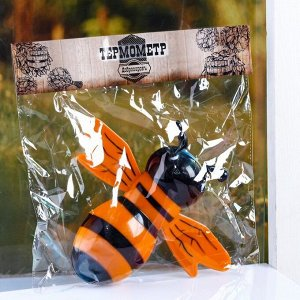 """Пластиковый термометр оконный """"Пчела"""" в пакете"""