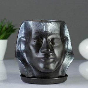 """Фигурное кашпо """"Аминхатеп"""", 17?15 см, черный"""