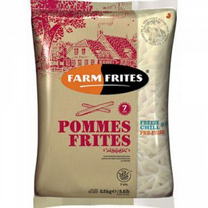 Картофель фри прямой, 7мм /Pommes Frites, Фарм Фритес, 2500 г, (6)