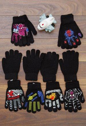 Перчатки для мальчика, с принтом
