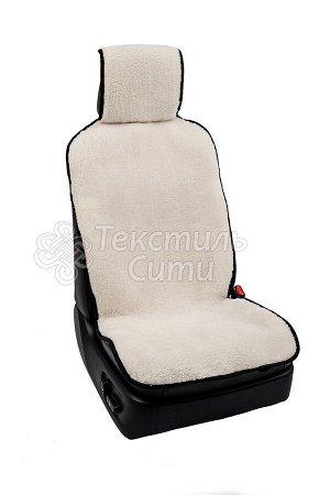 Накидка на кресло автомобиля с двойным мехом БЕЛАЯ