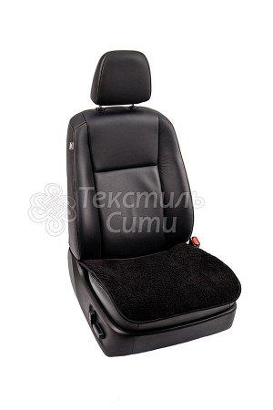 Меховая накидка на кресло автомобиля ЧЕРНАЯ
