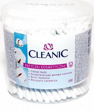 Ватные палочки CLEANIC 200шт круглый стакан