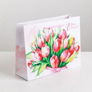 Пакет ламинированный горизонтальный «Цветочная нежность», M 26 ? 30 ? 9 см