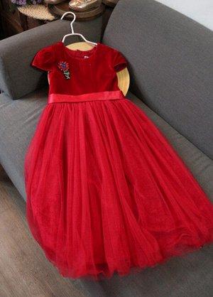 Платье красный цвет