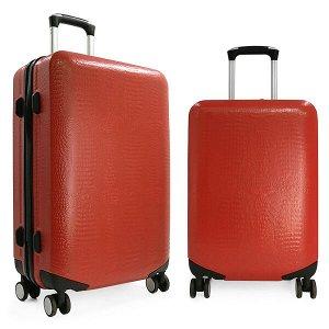 Комплект чемоданов Borgo Antico. ABS 8029 EY red (4 колеса)