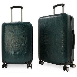 Комплект чемоданов Borgo Antico. ABS 8029 EY dark green (4 колеса)