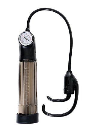 Помпа для пениса Sexus Men Expert, вакуумная, механическая, с манометром, ABS пластик, чёрная, 35 см