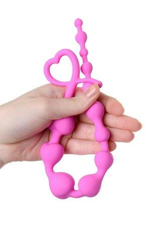Анальная цепочка ToDo by Toyfa Long Sweety, силикон, розовая, 34 см, ? 2,7 см