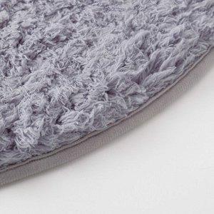 Ковёр «Этель» Lama. цвет серый. диаметр 80 см. 100% п/э