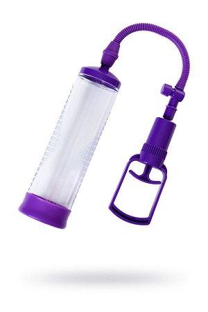 Помпа для пениса Sexus Men Erection , вакуумная, механическая, ABS пластик, прозрачный, 23 см
