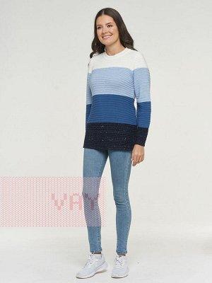 Джемпер женский-. Цвет: 189/А15/245/231/10480 т.синий/пайе.т.син./деним/голубой/молоко