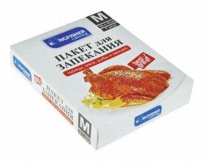 """Пакеты для запекания """"KINGFISHER"""", размер пакета """"М"""" (35 см х 43 см), 7 штук в картонном боксе, с клипсами"""