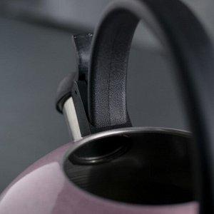 Чайник со свистком 2,5 л «Палитра», цвет МИКС