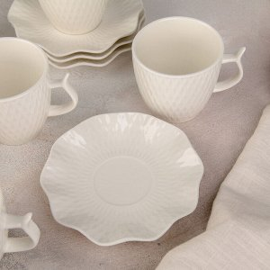 """Сервиз чайный """"Эталон"""", 12 предметов: 6 чашек 200 мл, 6 блюдец 12,5 см"""