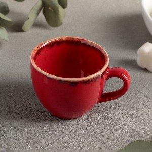 Чашка кофейная 90 мл, цвет красный