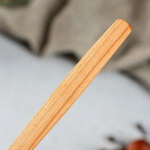 """Ложка деревянная """"Столовая"""", 16 х 4 см, массив черешни"""