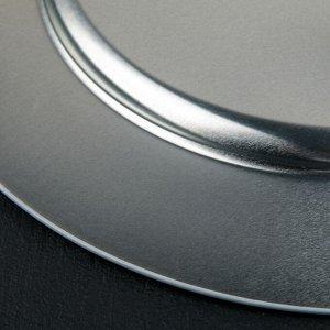 Поднос «Сердце», 33 см, металлический