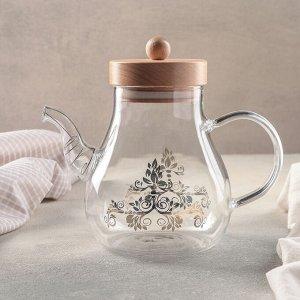 Чайник заварочный с металлическим ситом «Эко. Восток», 1,2 л