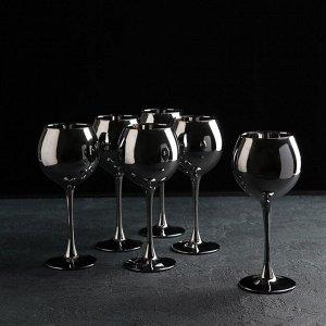 Набор бокалов для вина 280 мл «Серебро», 6 шт