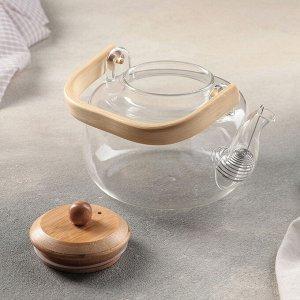Чайник заварочный с металлическим ситом «Эко», 0,8 л