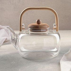Чайник заварочный «Эко», 1,2 л, с металлическим ситом