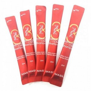 Шампунь для повреждённых волос салонный эффект MASIL SALON HAIR CMC SHAMPOO, 8мл