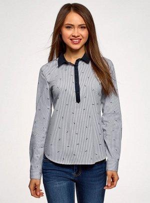 Рубашка принтованная Oodji