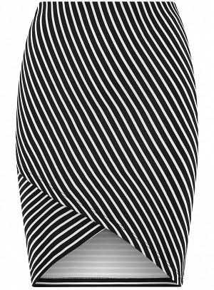 Юбка трикотажная с асимметричным низом